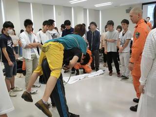 岐阜市消防本部南消防署レスキュー隊による講義が行われました!