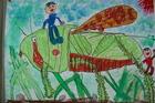 (PM)虫の絵~1年1組図工作品