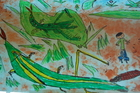 (PM)虫の絵~1年2組図工作品