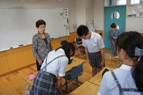 (動)6年生礼法指導