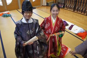 6年礼法指導~和装の文化