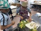 収穫した野菜の調理~2年生