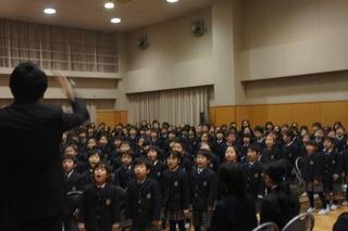 (動)6年生とのお別れ式