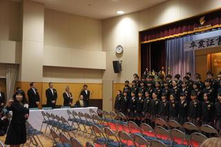 (動)お別れの言葉~第40回卒業証書授与式