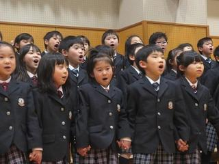 (動)6年生を送る会~1年生からのメッセージ
