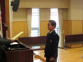 3学期のあいさつ名人表彰