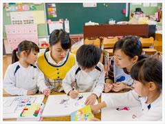 数多くの学外実習で子どもの心を感じる。