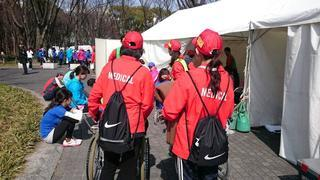 名古屋ウィメンズマラソンに学生ボランティアとして参加