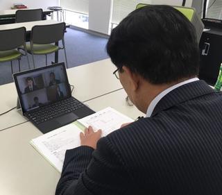 ビデオ会議ツール「Google Hangouts Meet」を活用して模擬教員採用面接を実施しています。