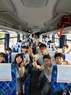 篠島行のバスの中で・・・
