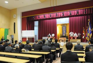 附属中学校新校舎の竣工式