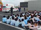 消防署との合同避難訓練