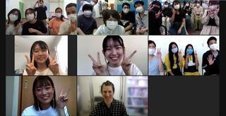 外国語ラウンジ「Lounge MELT」で外国人留学生とオンライン日本語交流会を開催しました。