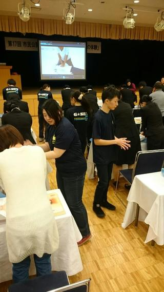 岐阜市医師会主催の市民開講座「救急講演会と応急手当の体験」に参加