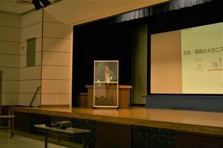 笠松町・笠松町自主防災協議会主催「防災講演会」にて本学教員(教育学部社会専修:森田准教授)が講演を行いました