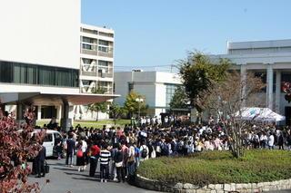 岐阜キャンパスで防災総合訓練が行われました