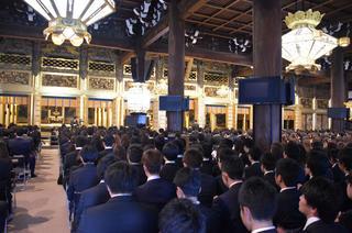 平成29年度 入学奉告本山参拝を行いました。