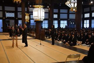 2019年度入学奉告本山参拝を行いました